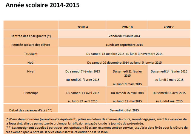 pratique calendriers scolaires 2014 15 2015 16 2016 17. Black Bedroom Furniture Sets. Home Design Ideas