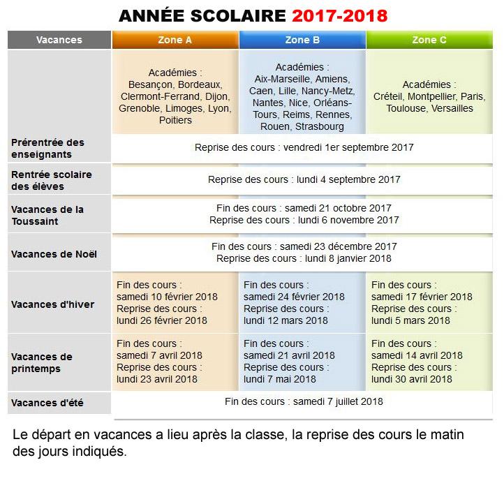 Calendrier Vacances Scolaires 2019 Nantes.Pratique Calendriers Scolaires 2017 2018 Et 2018 2019 Dans